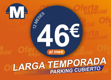 Parking Aeropuerto Málaga larga temporada 46 €